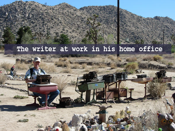 The writer at work in his home office (not really)